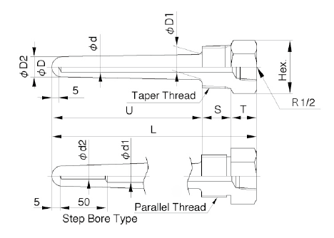 TW10A: Hollowed Out Protection Tube Screw Type image