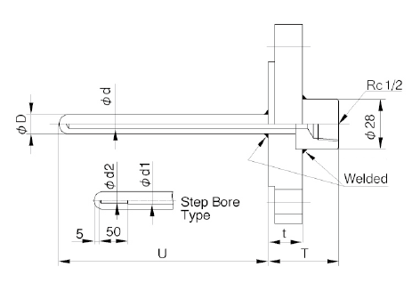TW20B: Assembly Type Hollowed Out Protection Tube Flange Type image