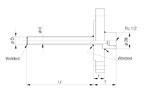 TW40B: Pipe Protection Tube Flange Type image