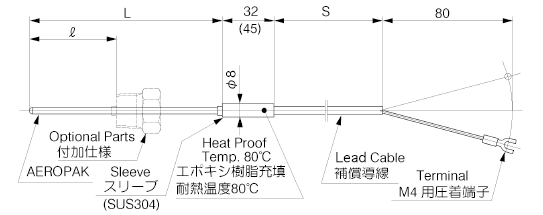 Sheathed Thermocouple with Extension Lead Wire image