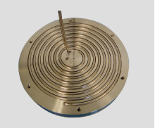Example image of a hot plate heater installation